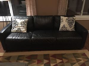 Leather top sofa and love seat