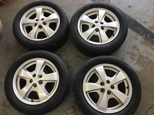 4 Mags Chevrolet 5X110, Goodyear American Eagle H2, 205/55R16