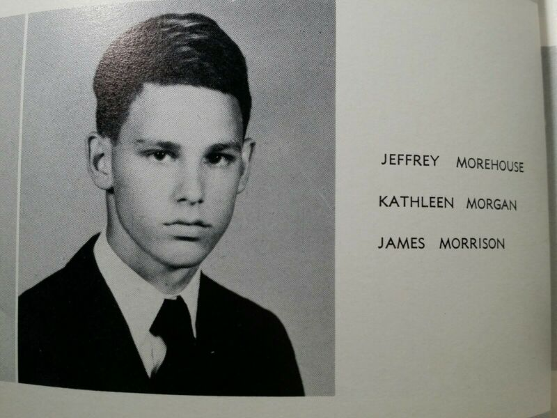 1961 JIM MORRISON OF THE DOORS COMPASS GEORGE WASHINGTON HIGH SCHOOL YEARBOOK