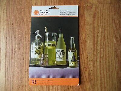 Halloween Jars Crafts (Martha Stewart Crafts Halloween 18 Labels For Beverages Jars & Bottles )