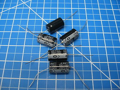 Sc - Gha Series - Axial Electrolytic Capacitors - 160v 100uf - 5 Pieces