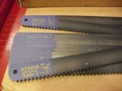 Twenty Atkins 17 X 1-14 X .065 X 4 Tooth Power Hacksaw Blades
