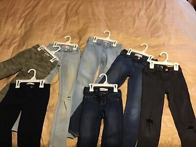 Abercrombie Kids Girls Pull On Jean Legging: Size SLIM 9/10 (7 pair)