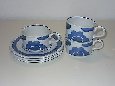 Villeroy Boch Blue Cloud 3x Teetasse + Ut