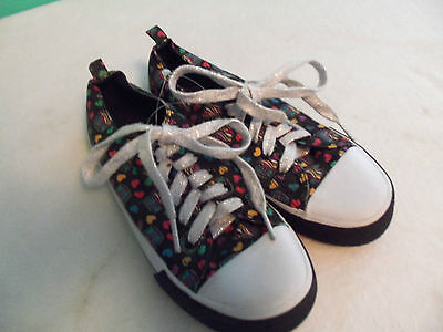 Cupcake Tennis Shoes (Girls Youth Tennis Casual Shoes The Children's Place Size 3 Black White)