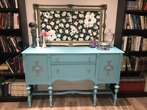 Turquoise vintage hutch