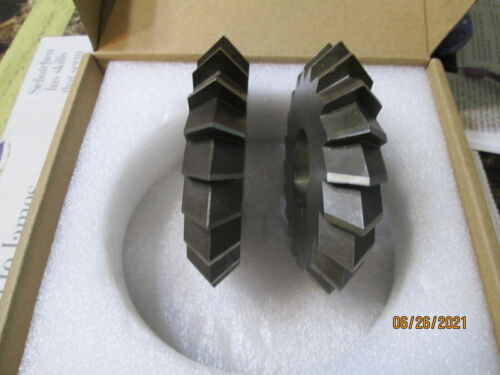 Horizontal Milling Cutters, One Pair, Double Angle, 90 deg, Ready to Cut, Sharp