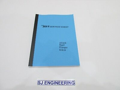 BSA A7 A10 WORKSHOP INSTRUCTION MANUAL RIGID PLUNGER SWING ARM ALL MODELS SJ068