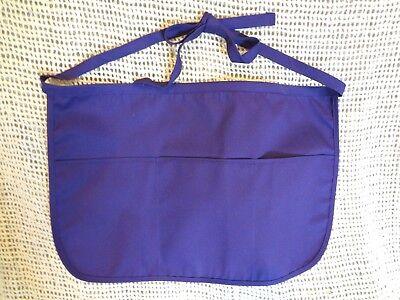 Usaprons Inc Purple 3 Pocket Waist Apron Waiter Waitress Bar Staff New
