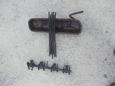 Farmall 400 450 Tractor Ih Engine Motor Rocker Arm Assembly Push Rods Cover