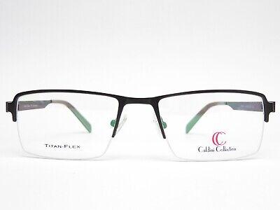 Caldini Collection Brille Große Brillenfassung Herren Schwarz TITAN-FLEX Trend