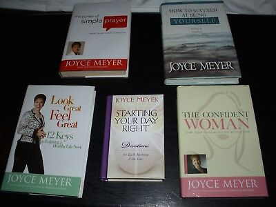 JOYCE MEYER SELF HELP BOOKS - LOT OF FIVE