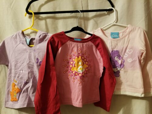 Baby Girls Vintage Lot of 3 Care Bear Tops T shirts No Damage