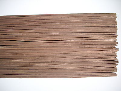50 Holzleisten amer. Nußbaum 800 x 5 x 0,6 mm