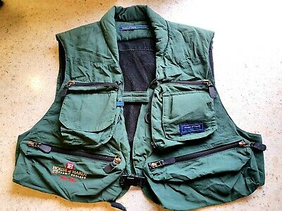 House Of Hardy Iain Barr World Team England Fly Fishing Waistcoat. COLLECTABLE