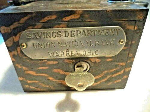 C.O. BURNS COIN BANK UNION NATIONAL BANK SAVINGS DEPT.  WARREN, OHIO 1 KEY #806