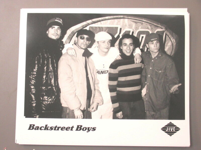Backstreet Boys promo photo 8 X 10 glossy black & white JIVE Z101 !
