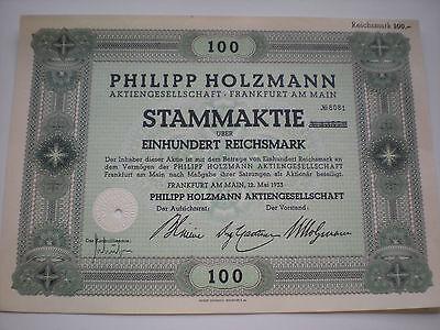 Deutschland - Philip Holzmann AG  100 RM  1/323-1