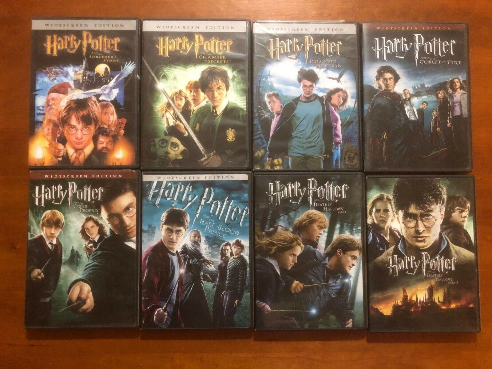 COMPLETE Set of 8 Harry Potter DVDs Wide Screen JK Rowling