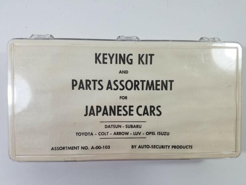 Vtg Car Keying Kit A-00-103 Datsun Toyota Subaru Arrow LUV Opel++ Wafer Lock