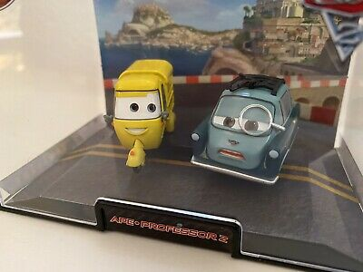 Disney Store Pixar Cars Ape & Professor Z Diecast Vehicle in Acrylic Case