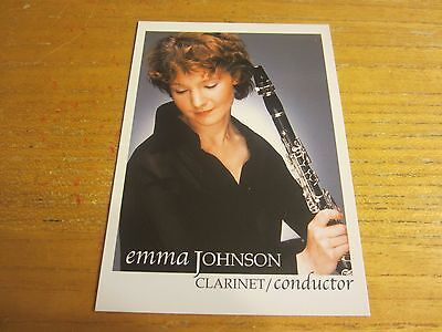 Emma Johnson Musician Autographed Signed 4X5.75 Photo