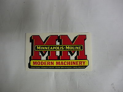 Minneapolis Moline Decal 2 34 X 5 New Free Shipping