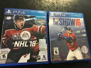 NHL18, MLB16 The Show