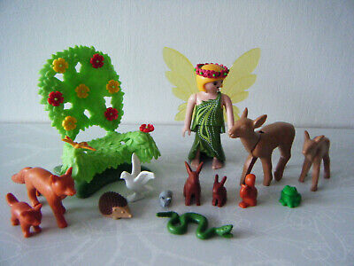 PLAYMOBIL FOREST FAIRY with Throne & animals deer fox squirrel rabbit + more