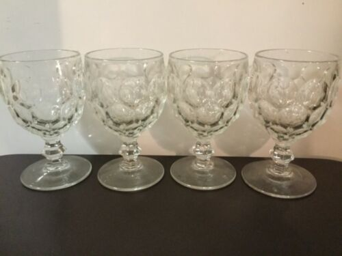 Vintage Imperial Glass Provincial Clear Water Goblets set of 4