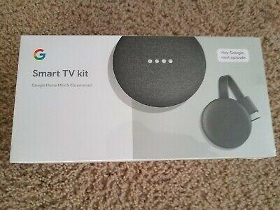 Google Smart TV Kit (Google Home Mini + Chromecast) New, Free Shipping