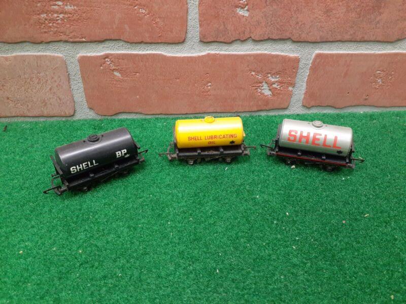 Triang Railways TT Gauge T.75 T.76 Shell BP Fuel Tankers