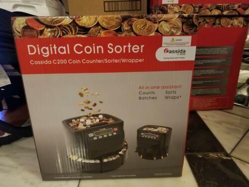 Canadian Cassida C200 Digital Coin Counter/Sorter/Wrapper