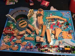 Thomas the Train table, tracks, and accessories