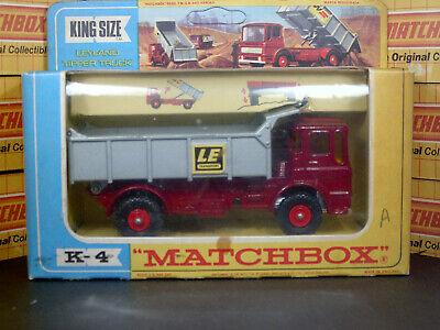 Matchbox Lesney Leyland Tipper K-4-C1 'LE Transport' King VNM & Original box