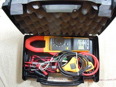 Fluke 381 Remote Display Trms Clamp Meter Kit Iflex Free Case -57949-57950.