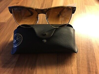 Original Tolle Rayban Sonnenbrille Clubmaster RB4175 Oversized Farbe Havana