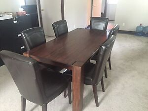 Hardwood Conference Table and Chairs