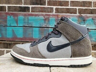 Nike DUNK GS Clay Gray High Tops Basketball Youth Shoes size 7Y 308319 025