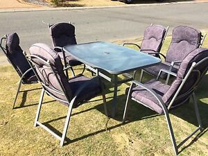6 seater outdoor table and chairs Carramar Wanneroo Area Preview