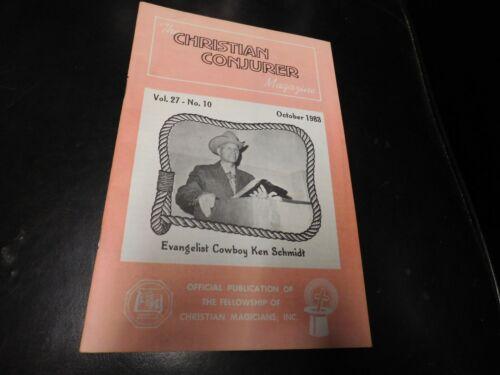 The Christian Conjurer Magic Magazine 1983 October Cowboy Ken Schmidt