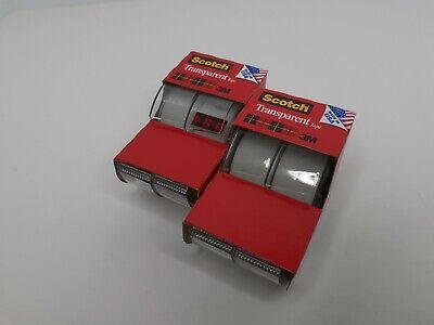 Scotch Tape 3m Clear Transparent Office Tape 4 Rolls 34 X 250 W Dispenser