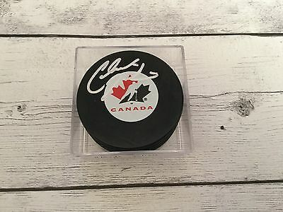 Claude Julien Signed Team Canada Hockey Puck Autographed Boston Bruins Nhl A