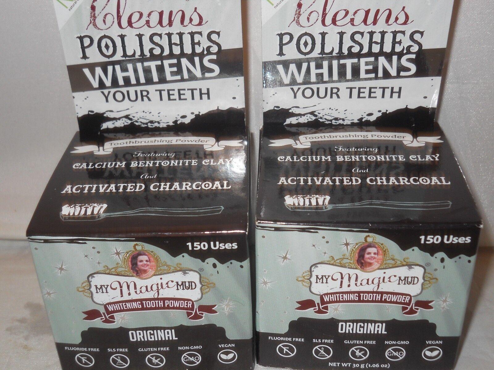 My Magic Mud Whitening Tooth Powder 1.06 oz  Cleans Polishes