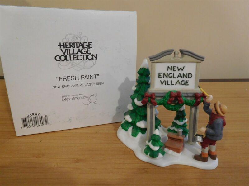 Dept 56 New England Village - Fresh Paint NE Village Sign - Free Shipping