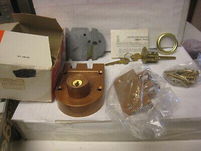Kaba Ilco 545-53-41 Rim Surface Dead Lock In Bronze Lacquer Nos Vintage