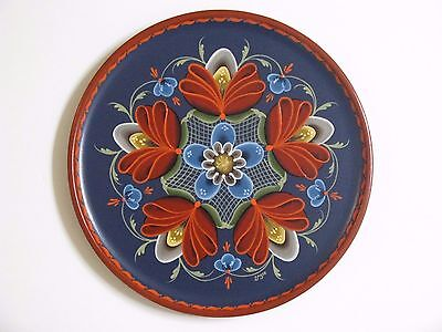Norwegian Rosemaling on a 8 inch plate