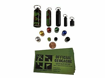 Combo Pack Geocaching Containers Small Micro Bison Tubes Combo Pack  Magnetic