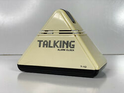 RETRO 1970s 'Talking Alarm Clock' -- Cool MCM Pyramid Style -- TESTED AND WORS