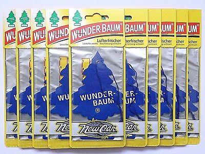 (1,28€/Einheit) 10 x WUNDER-BAUM® New Car Auto Lufterfrischer Duftbaum Freshener - 3 Stück Office